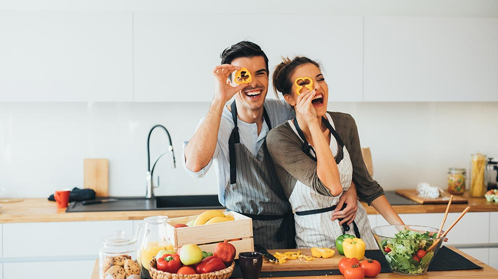 Cocinar en pareja. Lunes sin carne